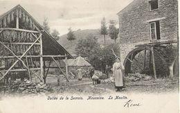 Mouzaive - Le Moulin Bien Animé  - Roue, Hangar à Tabac - Circulé 1906 Dos Simple -  SUPER ++ - Vresse-sur-Semois