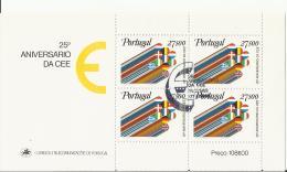 PORTUGAL  25 ANIVERSARIO DA CEE - Blocks & Kleinbögen