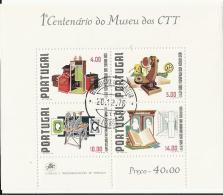 PORTUGAL  1 CENTENARIO  DO MUSEO DOS CTT - Blocks & Kleinbögen