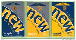 New Zealand - Chipcards - 1999 Trial Issue Set (3) - Mint In Pack - NZ-C-1/3P - Neuseeland