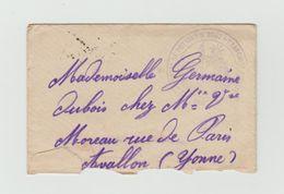 LAC 1915 - Cachet .......POTIGNY D' USSY  (Calvados) + Cachet AVALLON (Yonne) - Postmark Collection (Covers)