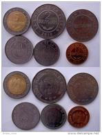 BOLIVIA SERIE 6 MONETE CON BIMETALLICA  2008-2010  5-2-1 BOLIVIANOS 50-20-10 CENTAVOS FDC - Bolivia
