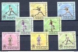 AFGHANISTAN 1963, IVes Jeux Asiatiques, Tennis, Lutte, Lanceur De Poids, Javelot, 8 Valeurs, Neufs / Mint. R140 - Afghanistan