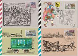 DDR 1990 MK 5 - 8/1990 Nr.3354 - 3357 500 Jahre Internationale Postverbindungen ( D 2101) Günstige Verandkosten - DDR
