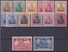 Dt. Bes. WK I, Etappengebiet West MiNr. 1 - 12 *  (R 821) - Besetzungen 1914-18