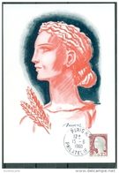 CM-Carte  Maximum Card # France-1960 # Timbres Courants # Art # Painting # Marianne ,0,25f # Essai De Decaris # Paris RP - Cartoline Maximum
