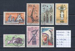 Geschiedenis - Indianen - Tchecoslowakije 1966 YT 1492/98 Gest./obl./used - American Indians