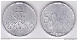 ESLOVAQUIA  50  HALIEROV  1.993  Aluminio  KM#15  SC/UNC       T-DL-11.643 - Slovacchia