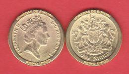 GRAN BRETAÑA / GREAT BRITAIN   1 LIBRA 1.993  KM#964  REPLICA  SC/UNC  T-DL-11.497 - 1971-… : Monedas Decimales