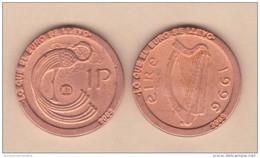 """IRLANDA 1 PENNY 1.996 KM#20a REPLICA  Colección """"LO QUE EL EURO SE LLEVO"""" SC/UNC  Réplica  T-DL-11.554 - Irlande"""
