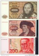 Satz 6 X Banknoten 1980 - 90, Set - Deutsche Mark ( Der Millionenkoffer ) TOP Repro ! - [ 7] 1949-… : RFA - Rep. Fed. Tedesca