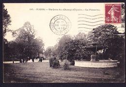 CPA - PARIS (75 - PARIS 8EME) - UN COIN DES CHAMPS ELYSEES, LA FONTAINE DES AMBASSADEURS (N° 193) - ANIMEE - Distretto: 08