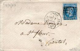 Losange E En Place De L'etoile / N°22  Paris  PLACE DE LA MADELEINE 7nov. 1863    Ind 18 - 1849-1876: Classic Period