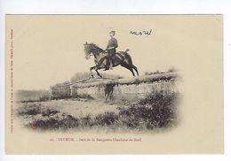 CPA Régiment Cavalerie Saumur Saut De La Banquette Irlandaise Du Breil N° 22 - Regimenten