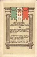 Italy National Bank War Funding For Victory Sottoscrivete Poster Art Postcard - Politieke En Militaire Mannen