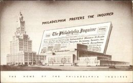 Philadelphia PA Inquirer Newspaper Advertising Postcard - Reclame