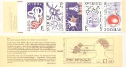 Sweden Sverige 1984 Nobel Prices Physiology & Medicine Stamps Booklet MNH Inner Ear Nerve & Synaps Eye Brain Res - Medicine
