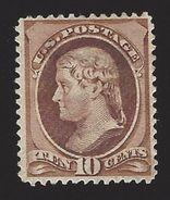 US #209 1881-82 Brown Perf 12 Mint OG LH F-VF Scv $160 - Unused Stamps