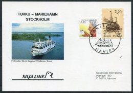 Aland Finland Navire Silja Line Ship Postcard - Aland