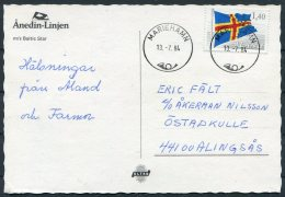 1984 Aland M/S BALTIC STAR Ship Postcard - Aland