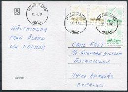 1984 Aland Mariehamn Postcard - Aland