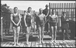 1912 Sweden Stockholm Olympics Official Postcard No 222 Australia Swimming Team - Olympic Games
