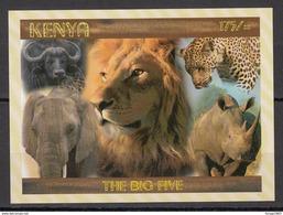 2017 Kenya NEW ISSUE! The Big 5 - May 10 - Lion Leopard Elephant Rhino Buffalo Souvenir Sheet MNH - Kenya (1963-...)