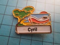 Pin712b Pin's Pins : Rare Et Belle Qualité : VOILIER BARQUE CANOT CYRIL   , Marquage Au Dos : - ---  - - Boats