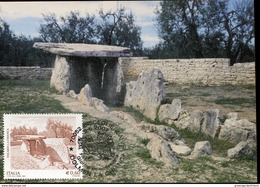 21495 Italia, Maximum  2007,  Dolmen Of Bisceglie Bari, Prehistoric,  Prehistory - Preistoria