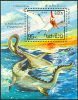 LAOS 1988 DINOSAURS S/S** (MNH) - Stamps