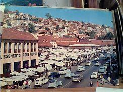 MADAGASCAR TANANARIVE  CENTRE MARKET AUTO CAR REANULT R 4 CITROEN 2 CV   N1975 GI17611 - Madagascar