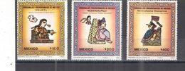 Messico PO 1987 Arte Preisp. Scott.1510/12+ See Scans Nuovi - Messico
