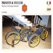 Fiche Photo Moto Italie Motocicletta PRINETTI & STUCCHI Tricycle Et Remorque Articulée 1899 Edit Edito Service - Autres