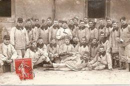 Carte Photo Militaire - Soldats Du 26e RI Nancy Avec Vareuse Essai Col Chevalière - 1912 - Instituteur Ballancourt - Régiments
