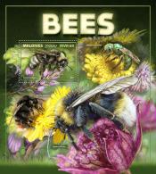 MALDIVES 2017 ** Bees Bienen Abeilles S/S - IMPERFORATED - DH1743 - Honeybees