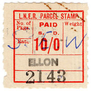 (I.B) London & North Eastern Railway : Parcel 10/- (Ellon) - 1840-1901 (Victoria)