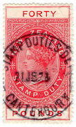(I.B) New Zealand Revenue : Stamp Duty £40 (11mm Appropriation) - Unclassified