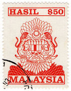 (I.B) Malaysia Revenue : General Duty $50 (1990) - Great Britain (former Colonies & Protectorates)