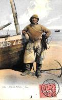[DC11028] CPA - TYPE DE PECHEUR - Viaggiata 1907 - Old Postcard - Pesca