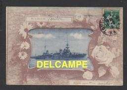 "DD / BATEAUX DE GUERRE / CUIRASSÉ "" VÉRITE "" EN RADE DE TOULON / CIRCULÉE EN 1910 - Guerre"