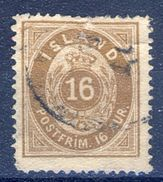 +Iceland 1876. Michel 9A. Used. FOLD! - Oblitérés