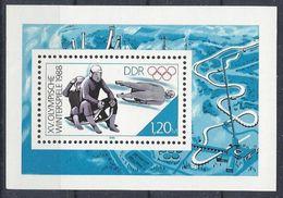 Germany (DDR) 1988 Olympische Winterspiele (**) MNH  Mi.3144 (block 90) - DDR