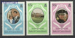 Turks And Caicos 1981 Mi 542-544 MNH ( ZS2 TKI542-544 ) - Royalties, Royals
