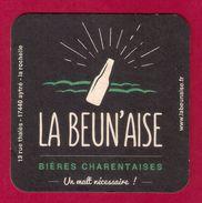 Sous-bock.  Beer Mat.   La Beun'aise, Bière Charentaise. - Beer Mats