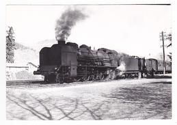 15 Massiac Vers Brioude PHOTO Originale Train Voyageurs Fourgon Locomotive Vapeur 141 Le 30 Avril 1958 VOIR DOS - Trains