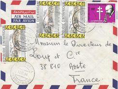 RCA CAR Centrafique 1983 Bossangoa Koch Nobel Tuberculosis WWII Ancien Combattants Cover - Centraal-Afrikaanse Republiek
