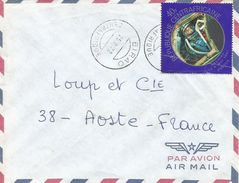 RCA CAR Centrafique 1972 Birao Alan Shepard Astronaut Space Apollo Flight Cover - Centraal-Afrikaanse Republiek