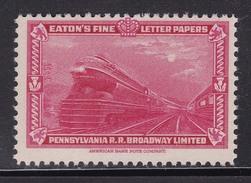 USA Trains Railway MNH** Old Poster Stamp - Eisenbahnen