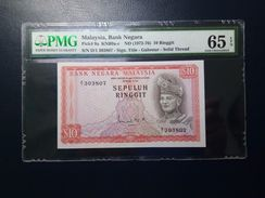 VintageNetwork - Malaysia - 1972-76 - 10 Ringgit - Pick# 9a - PMG 65 EPQ - Malaysia