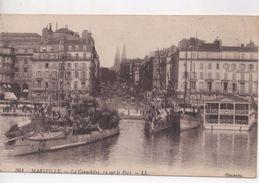 Cpa.13.Marseille.1943.La Canebière Vue Sur Le Port - Canebière, Centro